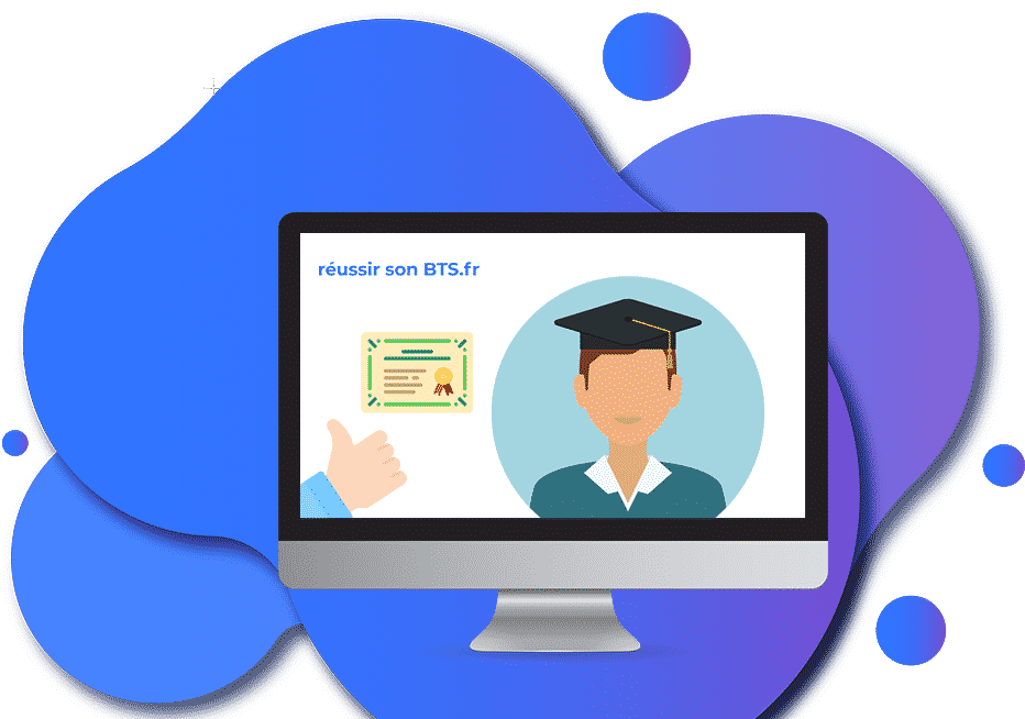 étudiant qui utilise le site réussir son bts