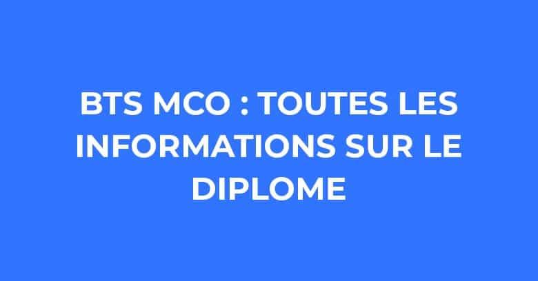 BTS MCO : Informations, programme, matières, débouchés