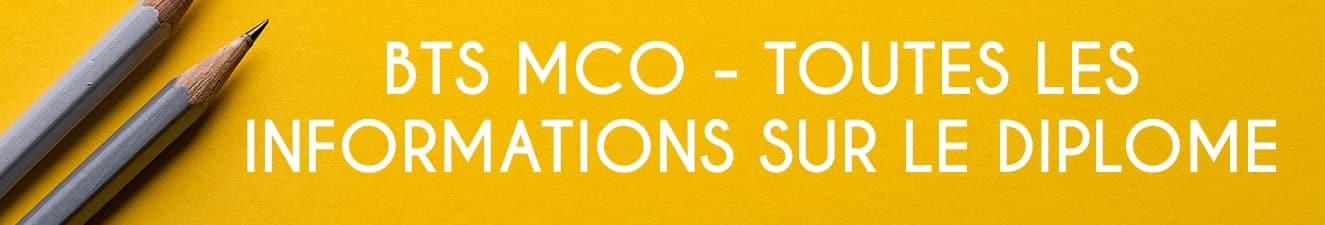 les informations pour la formation bts mco