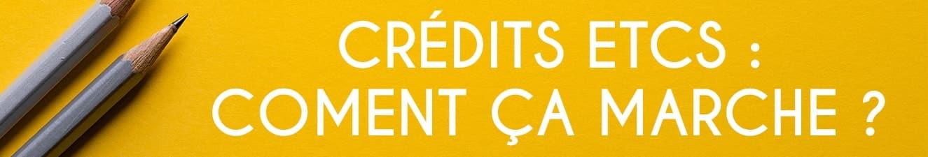 des informations sur les crédits ects