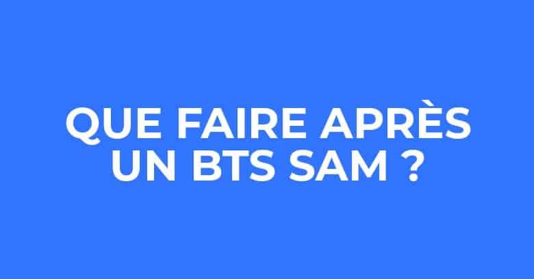 Que faire après un BTS SAM ?